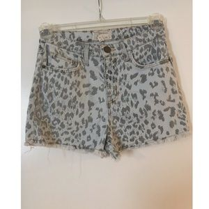 CURRENT leopard print shorts